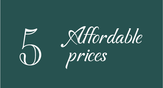 5 Affordable prices